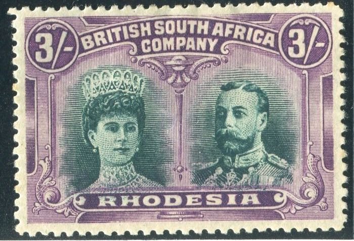 Rhodesia 1910 - Double head - Stanley Gibbons 158