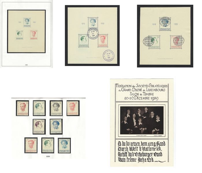 Luxemburg 1939 - Caritas and Jubilaire - Yvert 324/329 +330/332 + SHEETS