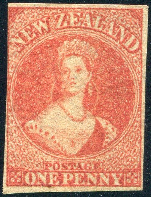 New Zealand 1862 - Queen Victoria type Chalon Head - Stanley Gibbons 34