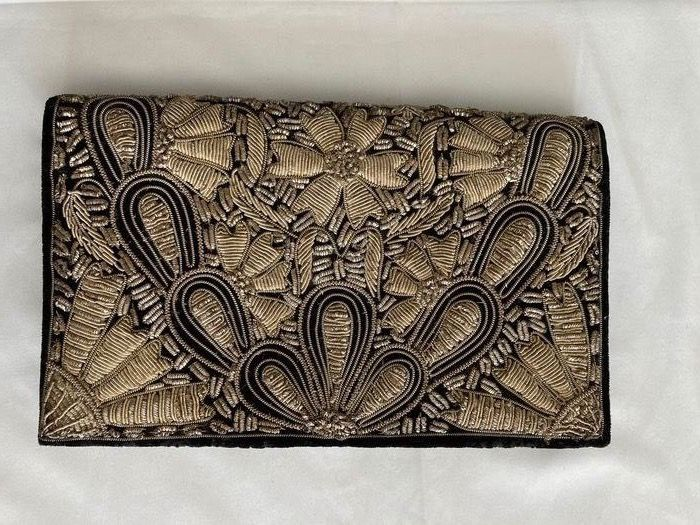 Beautiful vintage pouch (handmade) - Textiles - Early 20th century