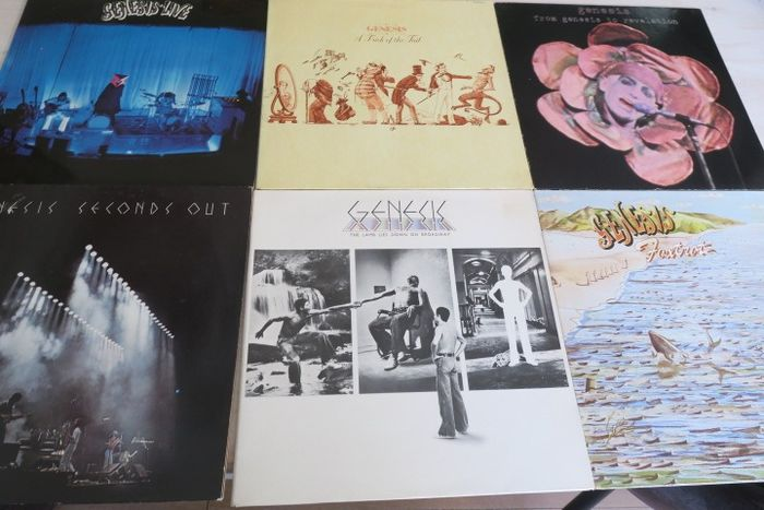 Genesis & Related - Nice Lot with 6 great Albums of the original Genesis - Multiple titles - 2xLP Album (double album), LP's - 1973/1977