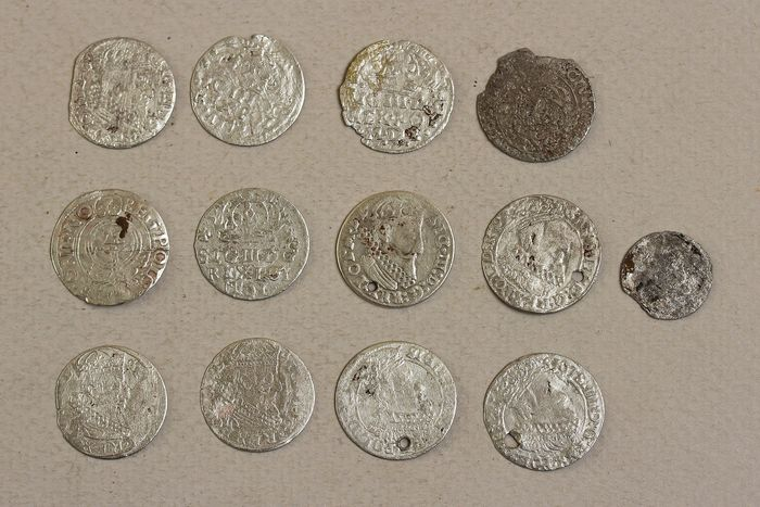 Polonia - Lot of 13 Coins, Groshen - bilon