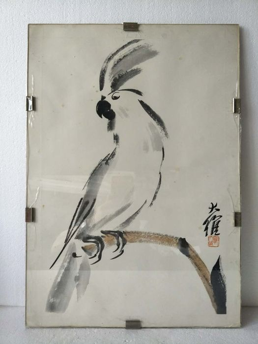 Framed painting - Paper - parrot - China - 20th C