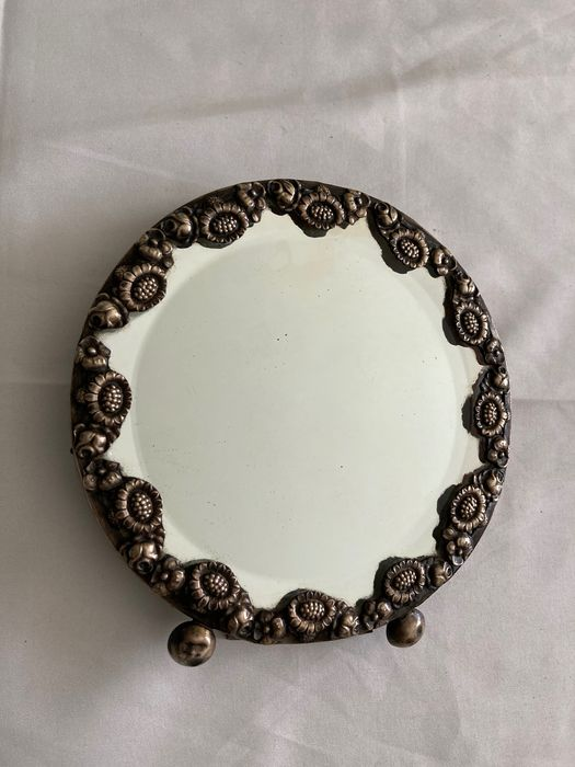 Silver and Pau Santo table mirror - Satinwood, Silver - Early 20th century