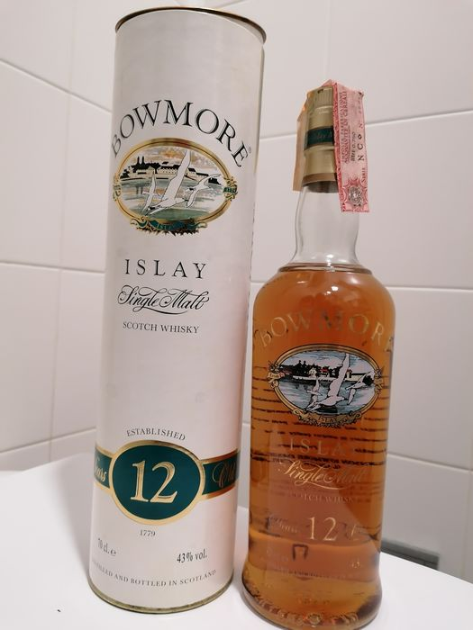 Bowmore 12 years old - b. Década de 1990 - 70 cl