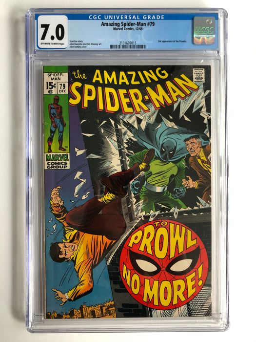 The Amazing Spider-Man #79 - 2nd Appearance Of The Prowler - CGC Graded 7.0 - Higher Grade!!! - Softcover - Erstausgabe - (1969)