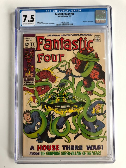 The Fantastic Four #88 - Mole Man Appearance - CGC Graded 7.5 - High Grade!!  - Softcover - Erstausgabe - (1969)
