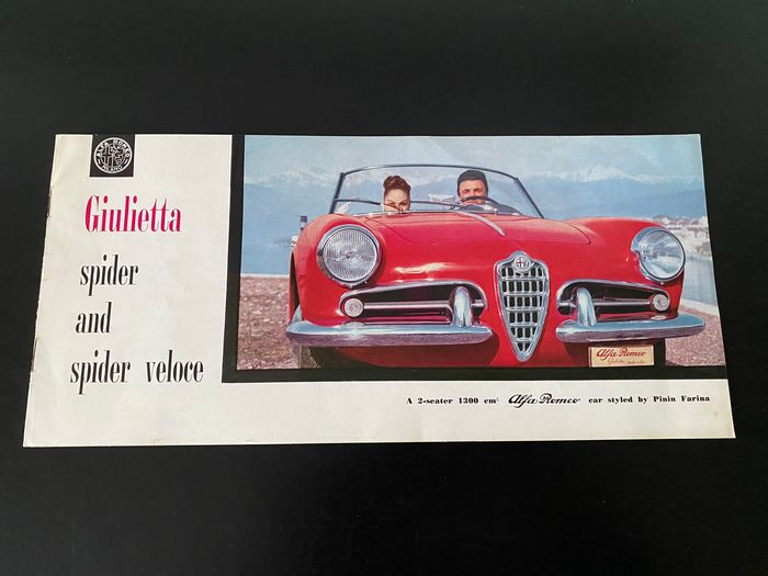 Brochures / catalogues - Giulietta Spider and Spider Veloce - Alfa Romeo - 1950-1960