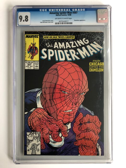 Amazing Spider-Man #307 - Chameleon Appearance - CGC Graded 9.8 - Extremely High Grade!!  - Softcover - Erstausgabe - (1988)