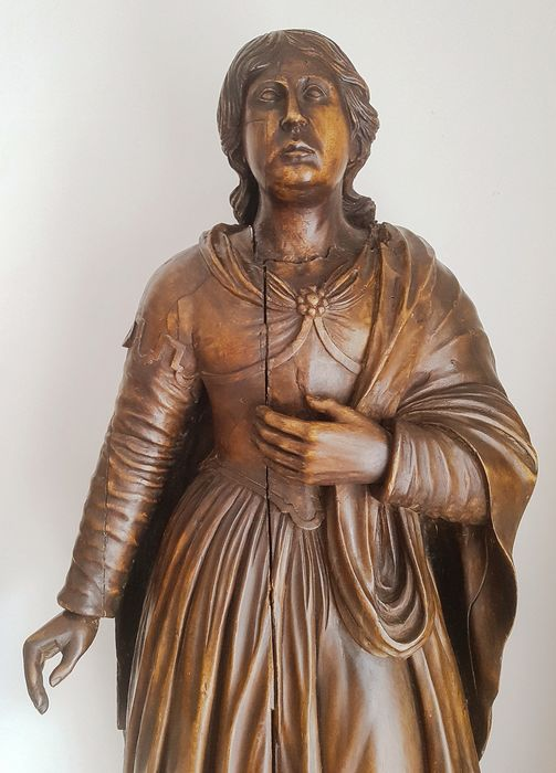 Preview of the first image of Saint, Large hand-sculpted statue - 95 cm (1) - Limewood - 17th century.
