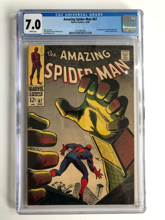 The Amazing Spider-Man #67 - 1st Appearance Of Randy Robertson - Mysterio Appearance - CGC Graded 7.0 - Higher Grade!!! - Softcover - Erstausgabe - (1968)