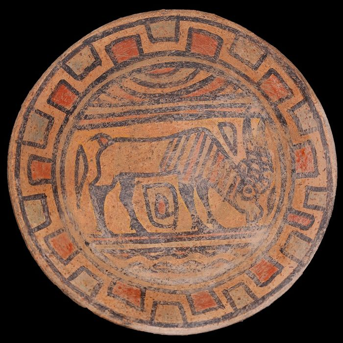 Indus Valley Pottery Polychrome Plate