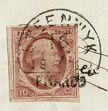 Netherlands 1860 - Letter cover from Kuinre (long cancellation) via Steenwijk to Onderdendam - NVPH 2