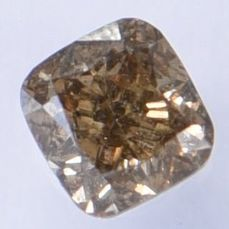 1 pcs Diamond - 0.31 ct - Cushion - Natural Fancy Deep Brown - SI2  IGI Antwerp Certified  ** No Reserve Price **