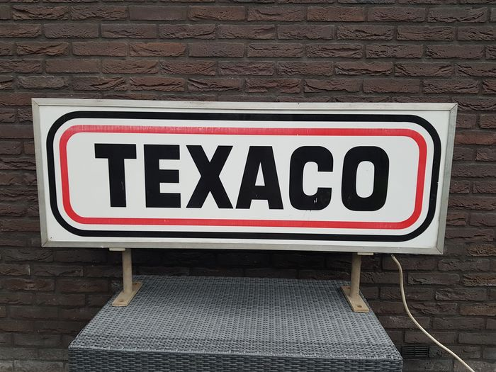Texaco advertising light box * LARGE * - Texaco