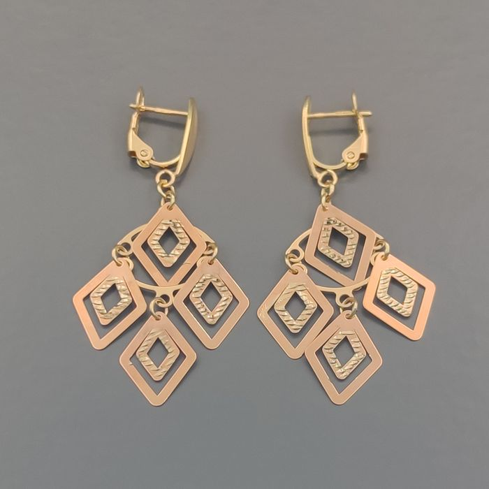 18 kt. Pink gold, Yellow gold - Earrings