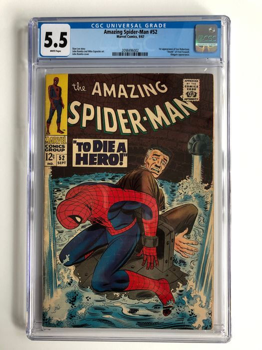 The Amazing Spider-Man #52 - 1st Appearance Of Joe Robertson - Death Of Fred Foswell - CGC Graded 5.5 - Mid Grade!!! - Softcover - Erstausgabe - (1967)