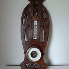 Barometer, Thermometer - Hout