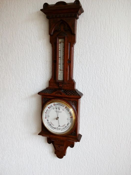 Exclusive large Aneroid barometer - Wood- Oak