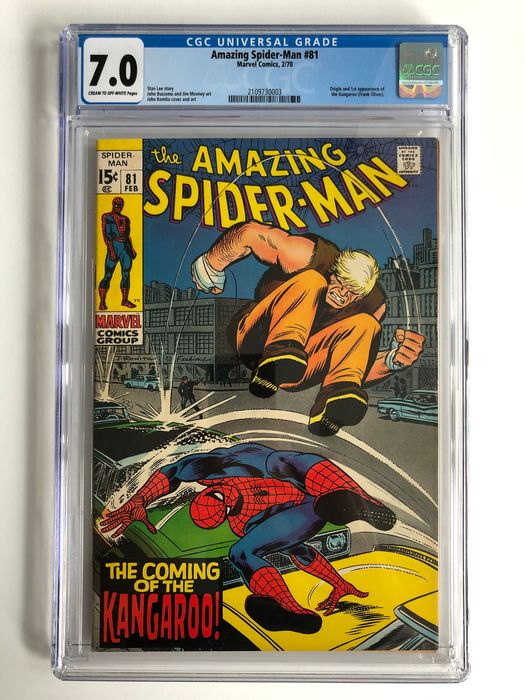 The Amazing Spider-Man #81 - Origin and 1st Appearance Of The Kangaroo - CGC Graded 7.0 - Higher Grade!!! - Softcover - Erstausgabe - (1970)