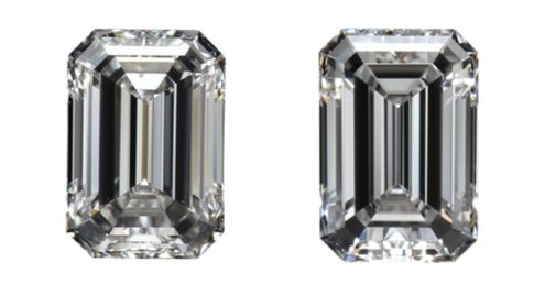 2 pcs Diamants - 1.00 ct - Émeraude - D (incolore), -NO RESERVE PRICE- - IF (pas d'inclusions)