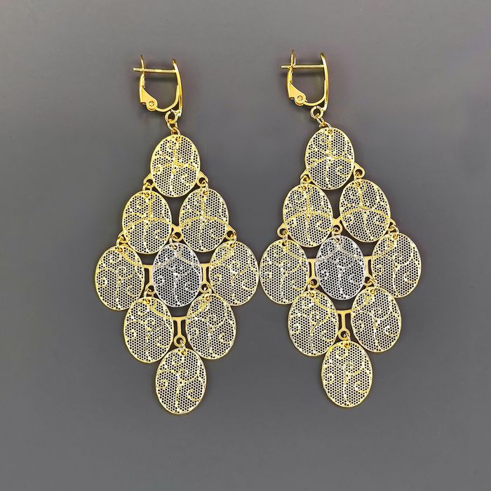 18 kt. White gold, Yellow gold - Earrings