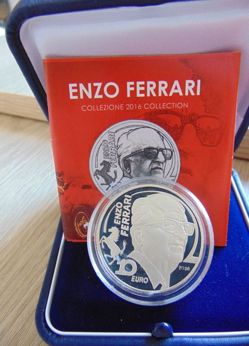 Ferrari - 10 Euro - Enzo Ferrari rare with certificate + original packaging - original official - Ferrari - After 2000