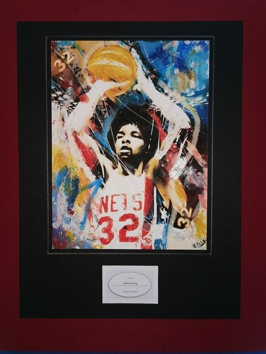 NBA Basketball - Julius Erving - Kunstwerk