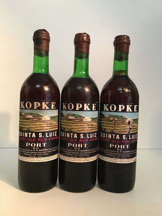 Kopke - Quinta São Luiz - Choicest Old Rich Vintage - Old Bottlings - Port - 3 Bottles (0.75L)