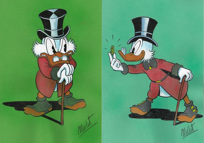 Scrooge McDuck - Original Drawing - Millet - First edition