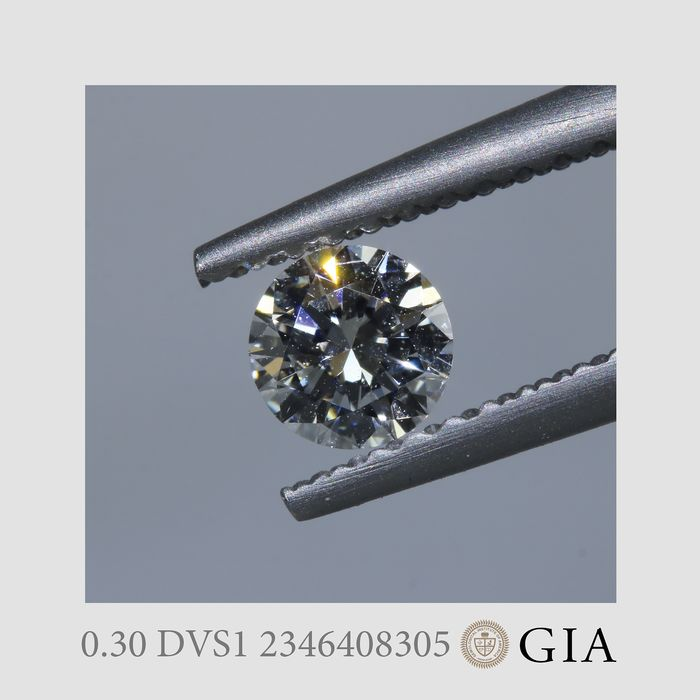1 pcs Diamant - 0.30 ct - Brillant - D (farblos) - VS1
