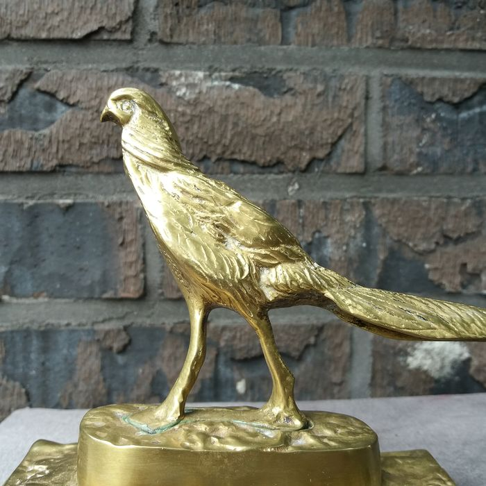 Gilded Pheasant on gilded console