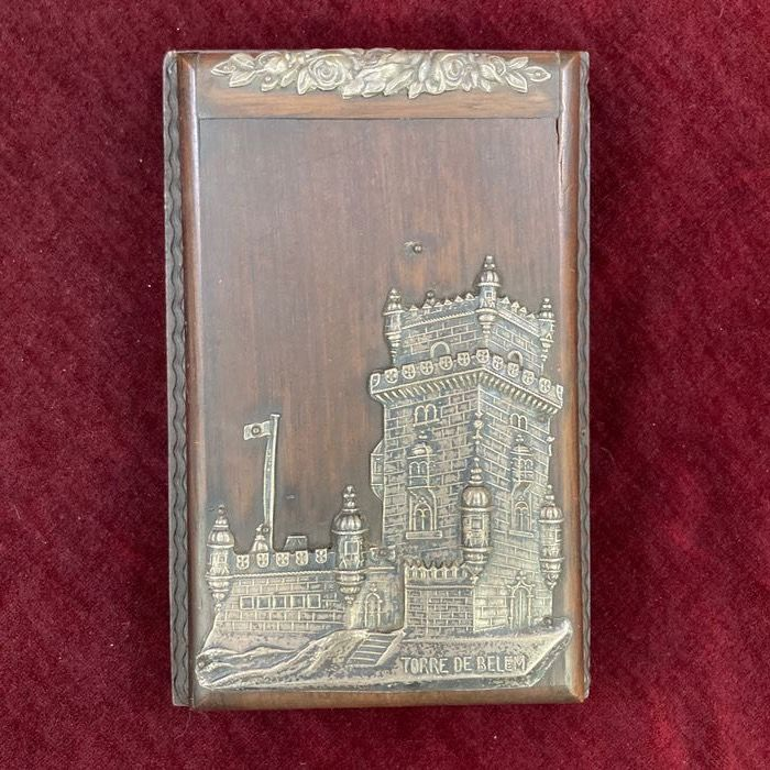 Silver and Pau Santo Block Holder - Satinwood, Silver - Late 19th century