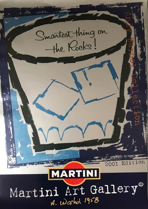 Andy Warhol - (after) Martini Art Gallery blue - Anni 2000