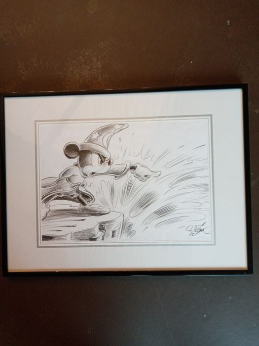 Sergio Garrido - Original drawing - Mickey Mouse - The Sorcerer's Apprentice