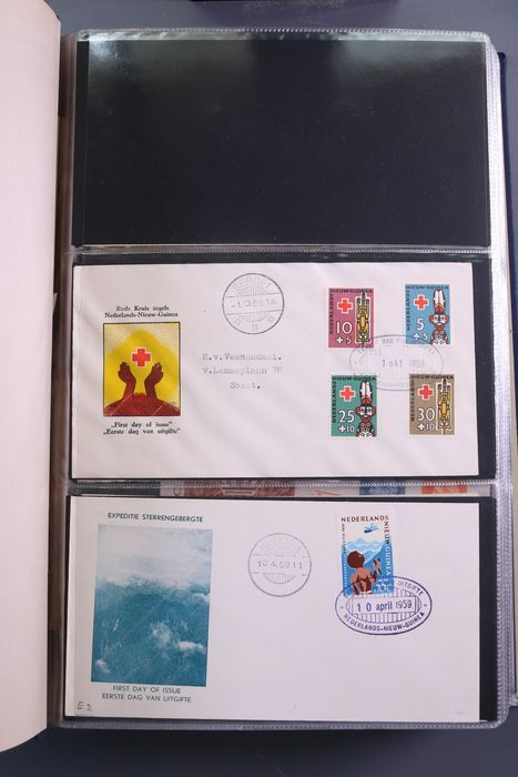 Netherlands Antilles and Dutch New Guinea 1958/1995 - Collection of FDCs in two DAVO Standard PSIII albums