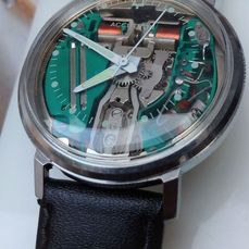 "Bulova - Accutron Spaceview - N2- RESERVE PRICE"" - N2-214 - Homem - 1972"