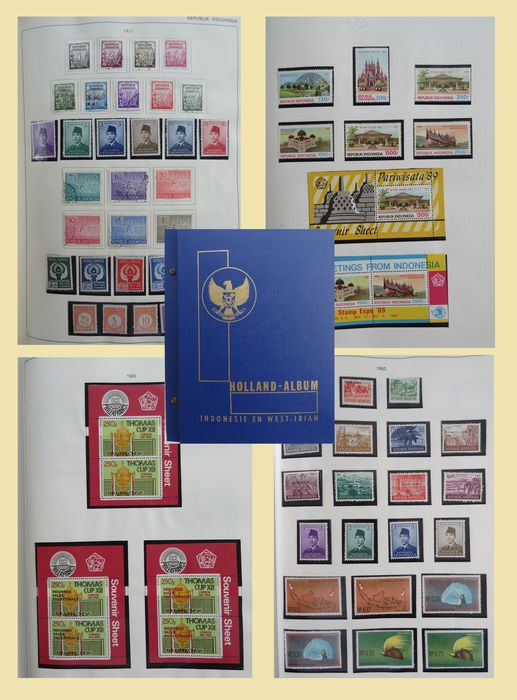 Indonesia 1950/1989 - Collection in old pre-printed album