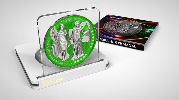 Germany - 5 Mark 2019 - Germania -  The Allegories i-Color Edition - HARLEQUIN - 1 Oz - Silver