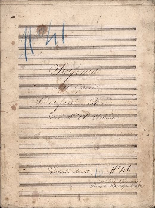 Adolphe-Charles Adam (Transcription from) - Manuscript; Musical sheet Opera Sinfonia Se io Fossi Re - 1891