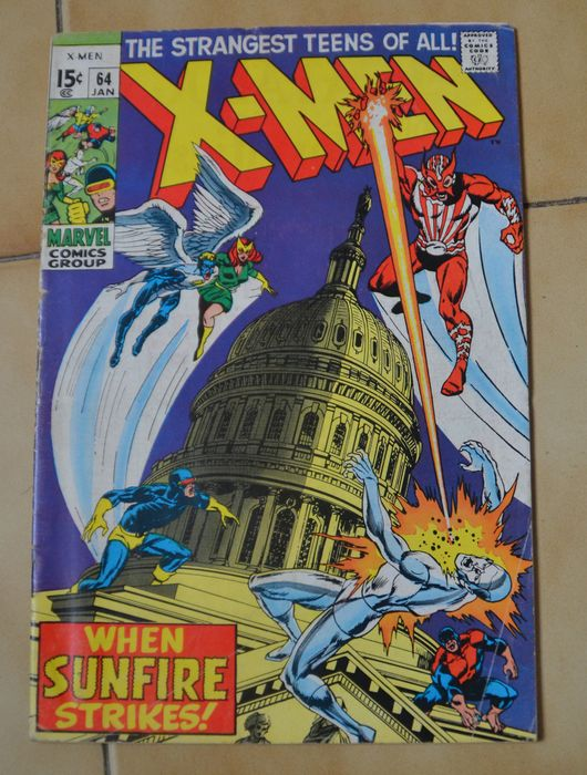 X-Men #64 - 1er Apparition Sunfire - Tapa blanda - Primera edición - (1970)