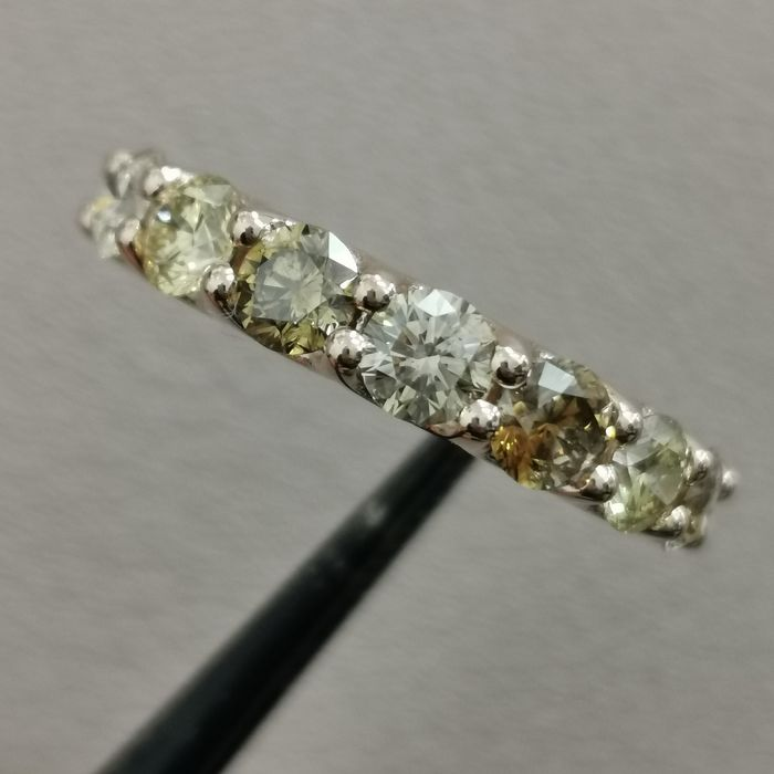 14 kt. Pink gold - Ring - 2.25 ct Diamond - AIG Fancy Mix Colors