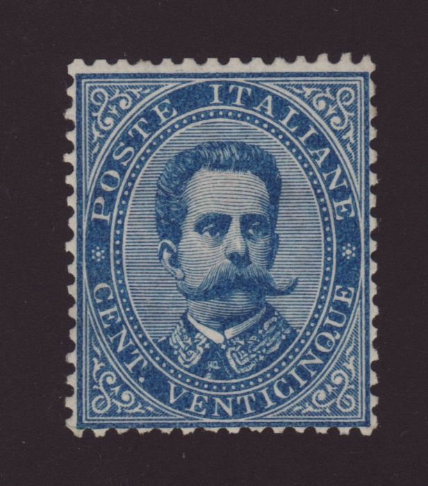 Italien 1876 - Kingdom of Italy - 25 cents Umberto - Sassone N.40
