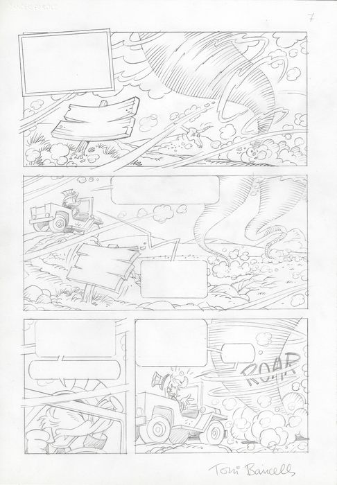 Toni Bancells - Original Comic Sketch Page - Scrooge McDuck - First edition
