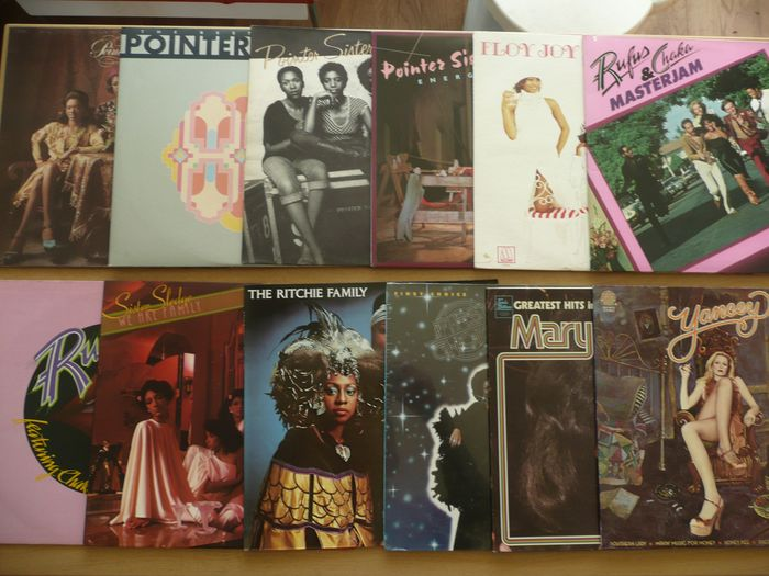 Various Artists/Bands in Soul, Pointer sisters, Supremes , Rufes and many more - Multiple artists - Multiple titles - 2xLP Album (double album), LP's - 1972/1979