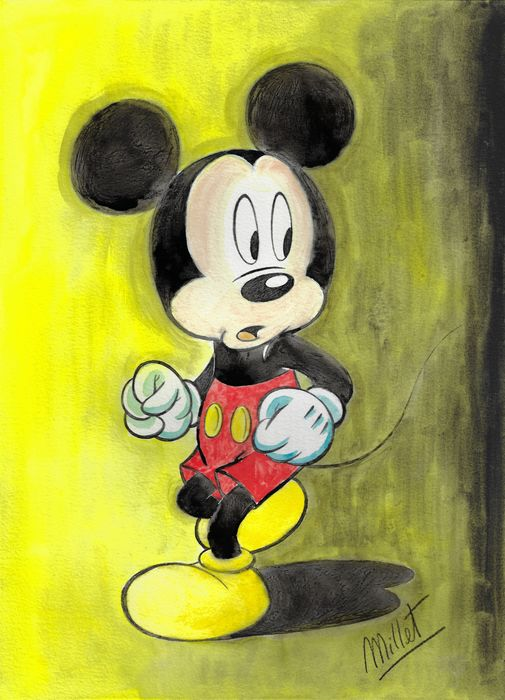 Mickey Mouse - Original Painting DIN A3 - Millet - First edition