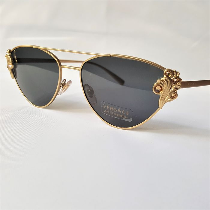 Versace - The TRIBUTE Special Frame Aviator Gold - New - Made in Italy - 2020 Sunglasses