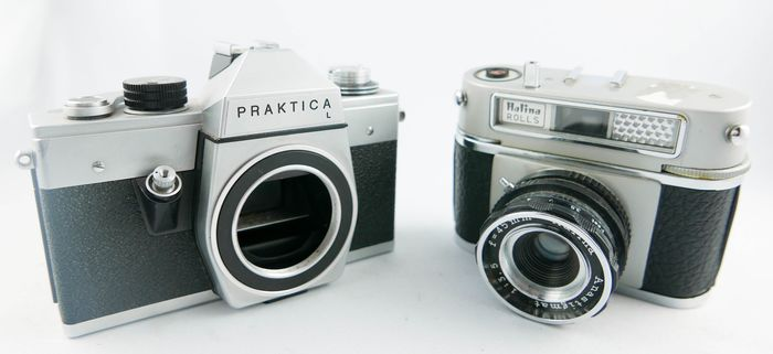 Praktica, Haking (Halina) SET : Praktica L and Halina  Rolls in good condition