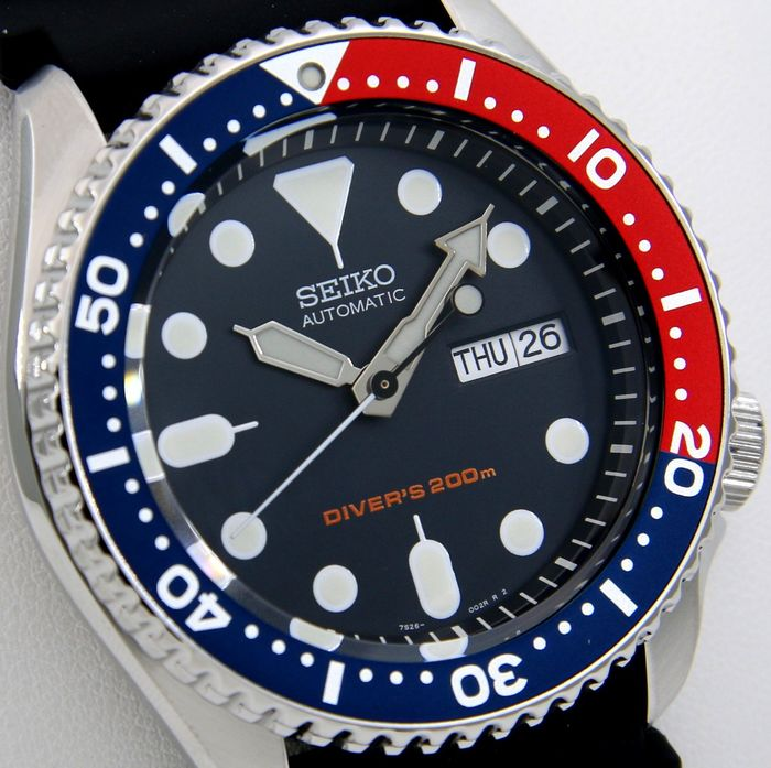 "Seiko - ""NO RESERVE PRICE"" Scuba Diver's 200M ""Blue Dial"" - Men - 2018"