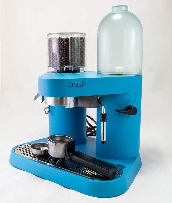 "Alessi - Coban espresso machine - Coban RS 04 - Sonderedition ""Aqua blue"""